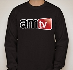 AMTV Black Long Sleeve Shirt - Rugged AMTV Logo