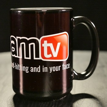 AMTV 15 oz Coffee Mug Black