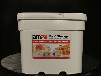 AMTV 2 Month Combo Bucket [Breakfast & Entree']  (1 Person, 84 Servings)